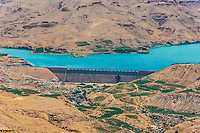 Wadi El Mujib Dam and Lake in Jordan middle east