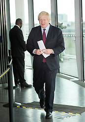 © London News Pictures. 05/05/2012. London, UK. BORIS JOHNSON entering the room before signing the Declaration of Acceptance of Office at London City Hall on May 5, 2012 a day after being elected as Mayor of London for a second term. Photo credit: Ben Cawthra/LNP