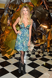 SABRINA PERCY at a party to celebrate theunveiling of the Claridge's Christmas Tree designed by Christopher Bailey for Burberryheld at Claridge's, Brook Street, London on 18th November 2015.