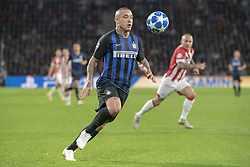 October 4, 2018 - Eindhoven, Netherlands - Radja Nainggolan of Inter in action during the UEFA Champions League Group B match between PSV Eindhoven and FC Internazionale Milano at Philips Stadium in Eindhoven, Holland on October 3, 2018  (Credit Image: © Andrew Surma/NurPhoto/ZUMA Press)