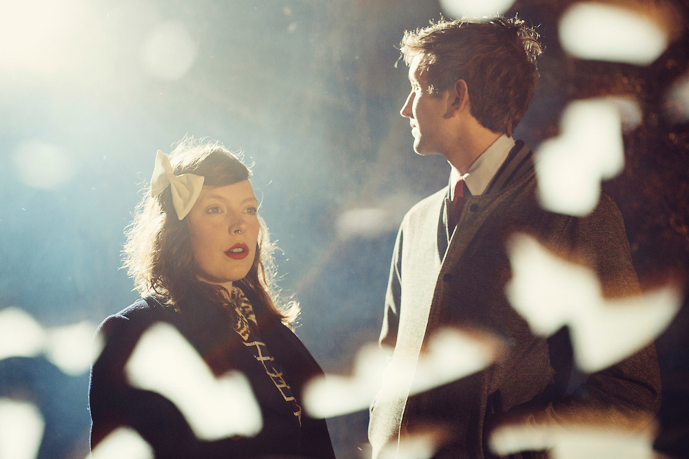 Sylvan Esso, Amelia Meath and Nick Sanborn, for promotion of their Partisan Records release.