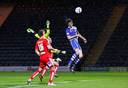 Peter Vincenti of Rochdale heads towards goal  - Mandatory byline: Matt McNulty/JMP - 07966 386802 - 06/10/2015 - FOOTBALL - Spotland Stadium - Rochdale, England - Rochdale v Chesterfield - Johnstones Paint Trophy