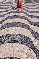 Portugal, Lisbonne, troitoire du Rossio ou la Place Dom Pedro IV // Portugal, Lisbon, sidewalk in Rossio square or Dom Pedro IV square