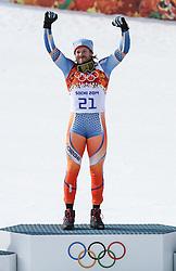 16-02-2014 SKIEN: OLYMPIC GAMES SCHANSSPRINGEN: SOTSJI<br /> Olympic Champion Kjetil Jansrud of Norway during the mens Super G to the Olympic Winter Games Sochi 2014 <br /> ***ONLY NETHERLANDS***<br /> ©2014-FotoHoogendoorn.nl