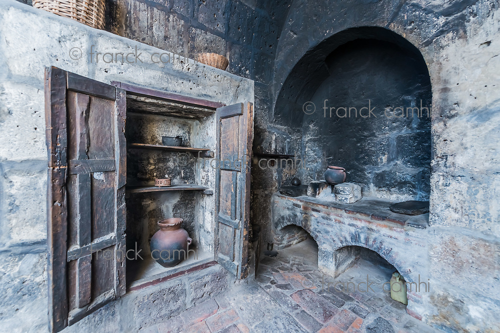 kitchen in Santa Catalina monastery in the peruvian Andes at Arequipa Peru
