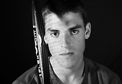 "14 April 2007: James Mc Gee, tennis player for the North Carolina State Wolfpack. ..Born 6/10/1987; Age 19 when photos were taken. 6'0"" and 176 lbs.  Photo taken his freshmen year.  From Dublin, Ireland and attended Belvedere College S.J.."