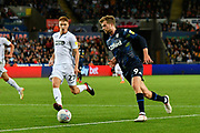 Patrick Bamford (9) of Leeds United during the EFL Sky Bet Championship match between Swansea City and Leeds United at the Liberty Stadium, Swansea, Wales on 21 August 2018.