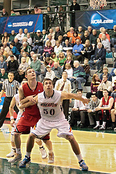 14 March 2014:  Nate Haynes  during an NCAA mens division 3 quarter final basketball game between the Dickinson Red Devils and the Wheaton Thunder in Shirk Center, Bloomington IL