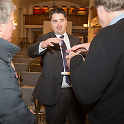 Boston City Councilor Josh Zakim attends a meeting regarding a new Back Bay building development project at The Boston Public Library on January 21, 2015 in Boston, Massachusetts. (Photo by Elan Kawesch/The Times of Israel)