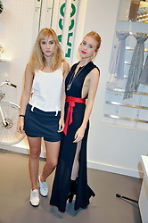 Left to right, SUKI WATERHOUSE and MARY CHARTERIS at a party to celebratethe opening of the Lacoste Flagship Store at 44 Brompton Road, Knightsbridge, London on 20th June 2012.