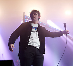 Lewis Capaldi surprises fans with Nina Nesbitt at SWG3 in Glasgow as part of her 'The Sun Will Come Up' UK Tour 2019 <br /> <br /> Pictured: Lewis Capaldi<br /> <br /> (c) Aimee Todd | Edinburgh Elite media
