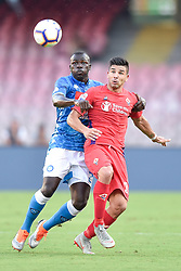 September 15, 2018 - Kalidou Koulibaly of SSC Napoli challeges Giovanni Simeone of ACF Fiorentina during the Serie A match between Napoli and Fiorentina at Stadio San Paolo, Naples, Italy on 15 September 2018. Photo by Giuseppe Maffia. (Credit Image: © AFP7 via ZUMA Wire)