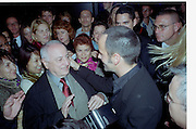 Pierre Berge and Tom ford. YSL show. Rodin Museum. Paris. 13 October 2000. © Copyright Photograph by Dafydd Jones 66 Stockwell Park Rd. London SW9 0DA Tel 020 7733 0108 www.dafjones.com