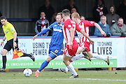Sean Rigg forward for AFC Wimbledon (11)in action during the Sky Bet League 2 match between AFC Wimbledon and Accrington Stanley at the Cherry Red Records Stadium, Kingston, England on 5 March 2016. Photo by Stuart Butcher.
