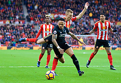 SUNDERLAND, ENGLAND - Monday, January 2, 2017: Liverpool's Nathaniel Clyne in action against Sunderland during the FA Premier League match at the Stadium of Light. (Pic by David Rawcliffe/Propaganda)