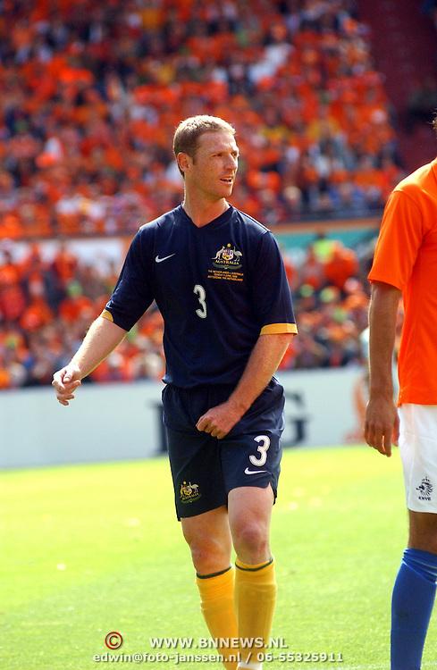 NLD/Rotterdam/20060604 - Vriendschappelijke wedstrijd Nederland - Australie, Craig Moore (3)
