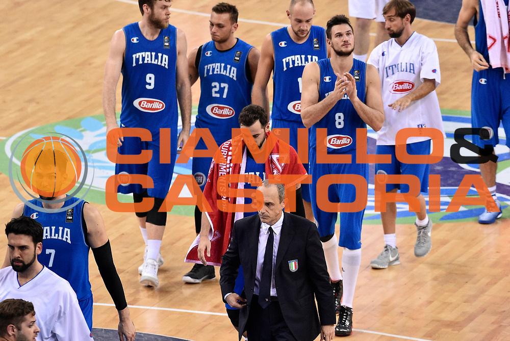 DESCRIZIONE: Torino FIBA Olympic Qualifying Tournament Finale Italia - Croazia<br /> GIOCATORE: DELUSIONE<br /> CATEGORIA: Nazionale Italiana Italia Maschile Senior<br /> GARA: FIBA Olympic Qualifying Tournament Finale Italia - Croazia<br /> DATA: 09/07/2016<br /> AUTORE: Agenzia Ciamillo-Castoria