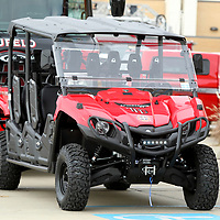 A UTV vauled at $19,000.00 was donated to the department on Thursday morning at the Firehouse restaurant location in Tupelo.