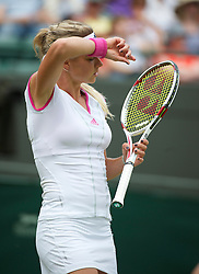 LONDON, ENGLAND - Saturday, June 25, 2011: Maria Kirilenko (RUS) in action during the Ladies' Singles 3rd Round match on day six of the Wimbledon Lawn Tennis Championships at the All England Lawn Tennis and Croquet Club. (Pic by David Rawcliffe/Propaganda)