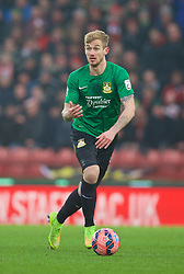 STOKE-ON-TRENT, ENGLAND - Sunday, January 4, 2015: Wrexham's Blaine Hudson in action against Stoke City during the FA Cup 3rd Round match at the Britannia Stadium. (Pic by David Rawcliffe/Propaganda)