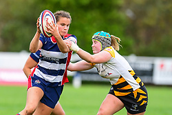Lucy Attwood of Bristol Ladies is tackled by Amy Cokayne of Wasps Ladies - Mandatory by-line: Craig Thomas/JMP - 28/10/2017 - RUGBY - Cleve RFC - Bristol, England - Bristol Ladies v Wasps Ladies - Tyrrells Premier 15s