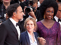 Alejandro Gonzalez Inarritu, Kelly Reichardt and Maimouna N'Diaye at the Opening Ceremony and The Dead Don't Die gala screening at the 72nd Cannes Film Festival Tuesday 14th May 2019, Cannes, France. Photo credit: Doreen Kennedy