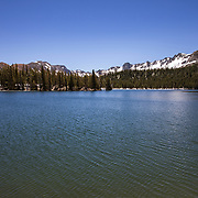 The Eastern Sierra's towns of Mammoth Lakes, June Lakes and surrounding areas weathered a historical and record producing winter snowfall that carried over into the summer. Horseshoe Lake has for years been a shrinking puddle of water but is now nearly full to capacity and lined with snow and ice late into June.