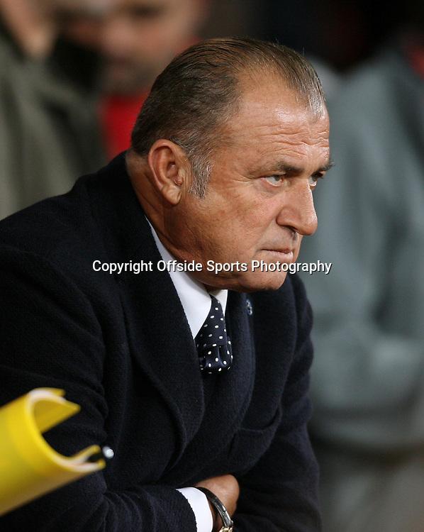 19th September 2012 - UEFA Champions League (Group H) - Manchester United vs. Galatasaray - Galatasaray coach Fatih Terim - Photo: Simon Stacpoole / Offside.