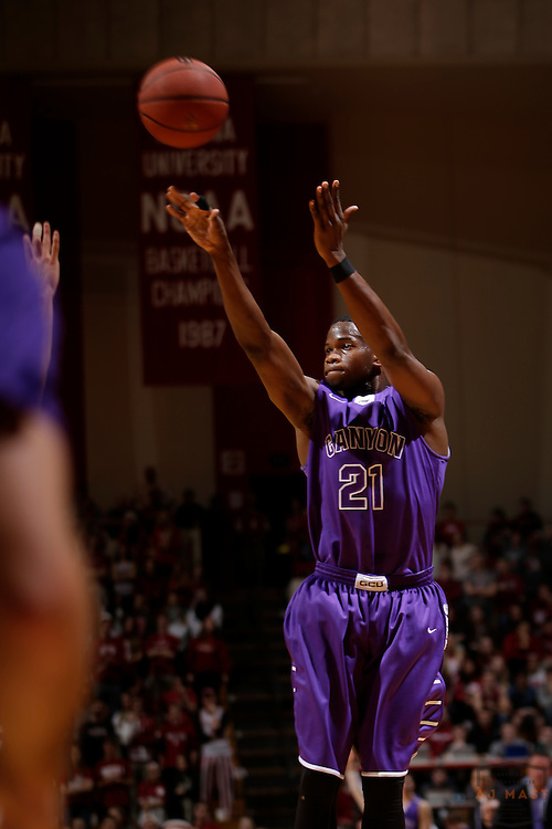Grand Canyon guard Jerome Garrison as Grand Canyon played Indiana in an NCAA college basketball game in Bloomington, Ind., Saturday, Dec. 13, 2014. (AJ Mast/Photo)