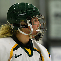 2nd year forward Merissa Zerr (24) of the Regina Cougars in action during the Women's Hockey home game on December 1 at Co-operators arena. Credit: Arthur Ward/Arthur Images