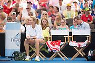 Alicia Molik (AUS), April 19, 2014 - TENNIS : Fed Cup, Semi-Final, Australia v Germany. Pat Rafter Arena, Brisbane, Queensland, Australia. Credit: Lucas Wroe