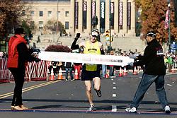 19th Philadelphia Marathon. November 18, 2012 -  Benjamin Franklin Parkway, Philadelphia, PA;  Mike McKeeman, 36 from Ardmore, PA is the 2012 men's Philadelphia Marathon winner clocking in at 2:17:47..