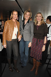 Left to right, INDIA HICKS, SANTA SEBAG-MONTEFIORE and ALLEGRA HICKS at a lunch to celebrate the launch of the Top Tips for Girls website (toptips.com) founded by Kate Reardon held at Armani, Brompton Road, London on 5th March 2007.<br />