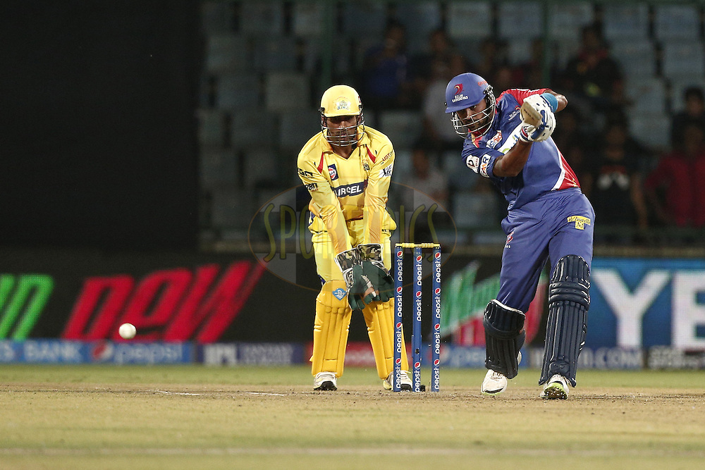 Murali Vijay of the Delhi Daredevils during match 26 of the Pepsi Indian Premier League Season 2014 between the Delhi Daredevils and the Chennai Superkings held at the Ferozeshah Kotla cricket stadium, Delhi, India on the 5th May  2014<br /> <br /> Photo by Deepak Malik / IPL / SPORTZPICS<br /> <br /> <br /> <br /> Image use subject to terms and conditions which can be found here:  http://sportzpics.photoshelter.com/gallery/Pepsi-IPL-Image-terms-and-conditions/G00004VW1IVJ.gB0/C0000TScjhBM6ikg