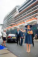 Koningin Maxima doopt vrijdagmorgen 20 mei het cruiseschip ms Koningsdam van Holland America Line