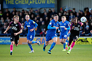 AFC Wimbledon midfielder Anthony Hartigan (8) battles for possession during the EFL Sky Bet League 1 match between AFC Wimbledon and Peterborough United at the Cherry Red Records Stadium, Kingston, England on 18 January 2020.