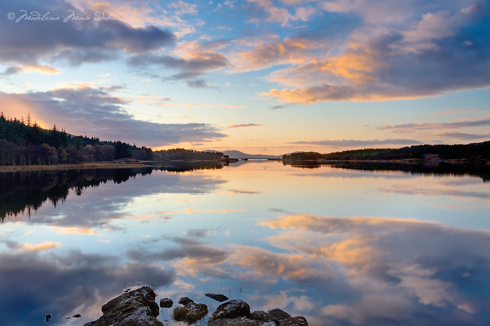 Lough Currane at Sunset, County Kerry, Ireland / wv059