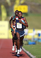 BELLVILLE, SOUTH AFRICA, Saturday 3 March 2012, Gladwin Mzazi of Gauteng North in the 5000m for men during the Yellow Pages Interprovincial held at Bellville Stadium stadium, outside Cape Town..Photo by ImageSA/ASA