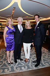 Left to right, DR HAROLD LANCER, his wife DANNI LANCER, CROWN PRINCE PAVLOS OF GREECE and CROWN PRINCESS MARIE CHANTAL OF GREECE at a reception to launch the range of Dr Lancer beauty products held at The Penthouse, Harrods, Knightsbridge, London on 16th September 2013.