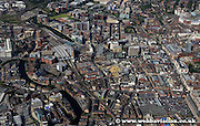 aerial photograph of Brewery Wharf Leeds Yorkshire England UK