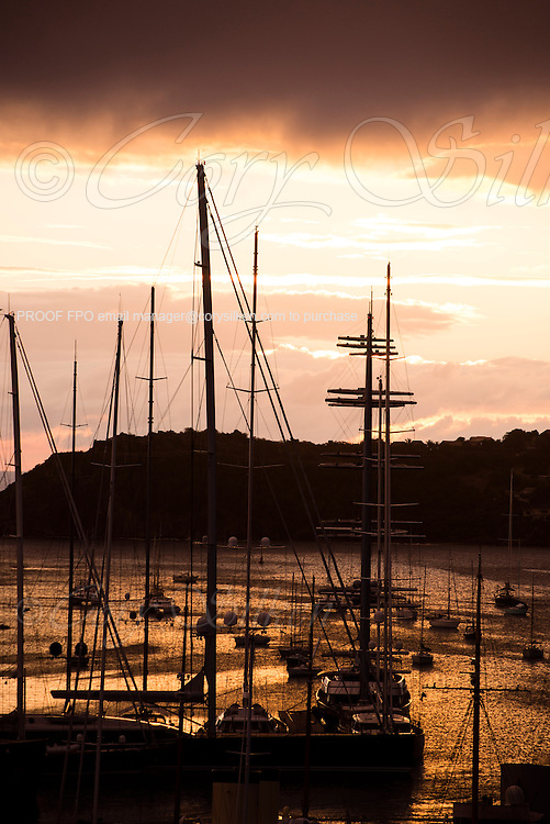 Sunset in Falmouth Harbour.