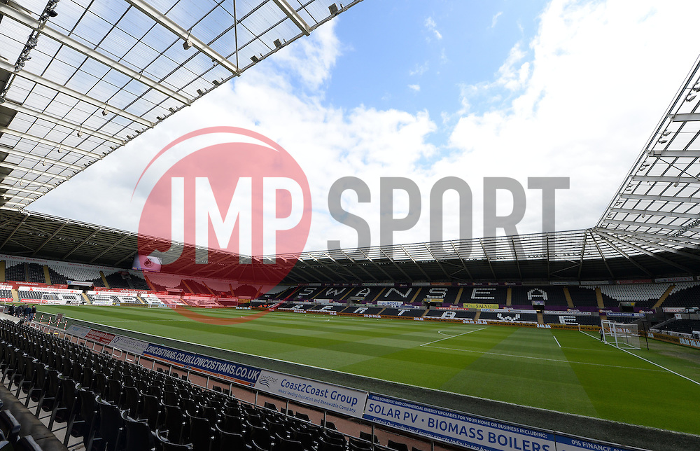 General view inside the  Liberty stadium. - Photo mandatory by-line: Alex James/JMP - Mobile: 07966 386802 - 17/05/2015 - SPORT - Football - Swansea - The Liberty stadium - Swansea City v Manchester City - Barclays premier league