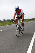 UK, Chelmsford, 28 June 2009: KEVIN WOOD (V) COLCHESTER ROVERS.C.C.  completed the E9 / 25 course in 1 hour 16 mins 04 secs. Images from the Chelmer Cycle Club's Open Time Trial Event on the E9 / 25 course. Photo by Peter Horrell / http://peterhorrell.com .