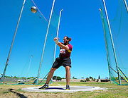 CAPE TOWN, SOUTH AFRICA - Saturday 27 February 2016, Johan Kruger of Stellenbosch University (Maties) in the mens hammer throw (60.14m) during the Western Province Athletics League Track and Field athletic meeting at the Parow Athletics Stadium. <br /> Photo by Roger Sedres/ImageSA