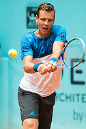 Tomas Berdych during the Madrid Open at Manzanares Park Tennis Centre, Madrid<br /> Picture by EXPA Pictures/Focus Images Ltd 07814482222<br /> 05/05/2016<br /> ***UK & IRELAND ONLY***<br /> EXPA-ESP-160505-0088.jpg