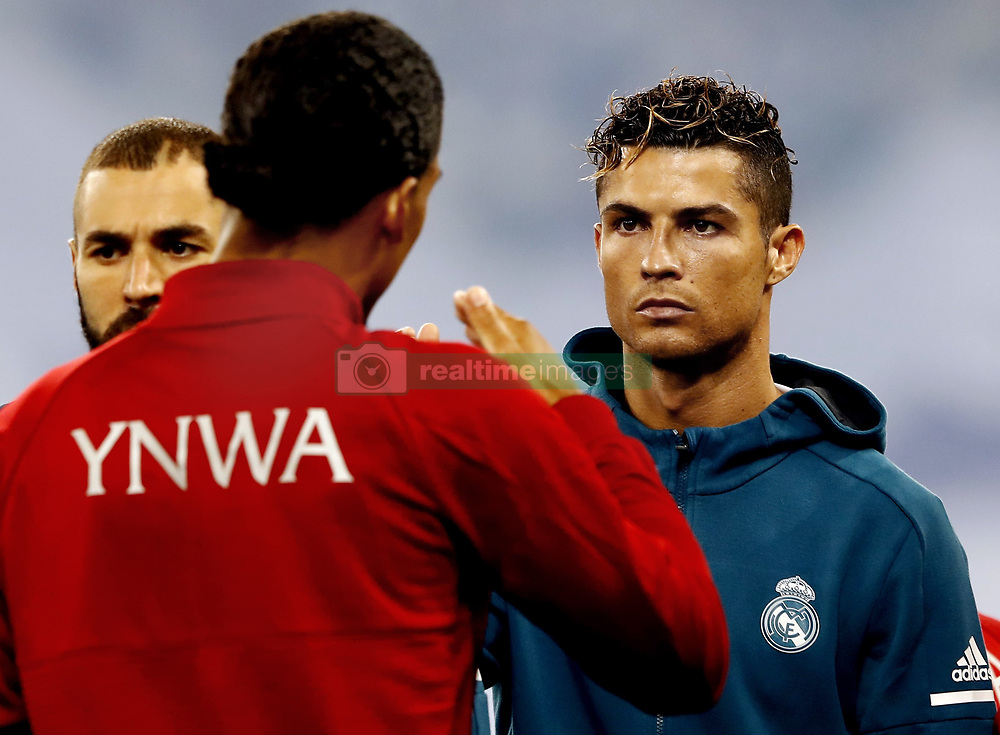 (L-R) Virgil van Dijk of Liverpool FC, Cristiano Ronaldo of Real Madrid CF during the UEFA Champions League final between Real Madrid and Liverpool on May 26, 2018 at NSC Olimpiyskiy Stadium in Kyiv, Ukraine