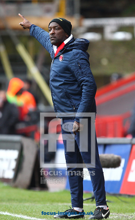 Picture by John  Rainford/Focus Images Ltd +44 7506 538356.16/03/2013.Chris Powell, manager of Charlton Athletic during the npower Championship match at The Valley, London.