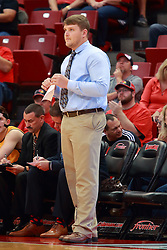 05 November 2016:  Adam Notteboom during an NCAA  mens basketball game where the Quincy Hawks lost to the Illinois State Redbirds in an exhibition game at Redbird Arena, Normal IL