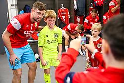 Mascot changing room visit - Rogan/JMP - 21/10/2017 - Ashton Gate Stadium - Bristol, England - Bristol City v Leeds United - Sky Bet Championship.