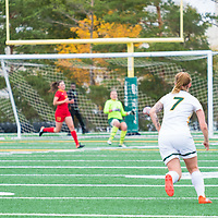 4th year forward Brianna Wright (7) of the Regina Cougars in action during the Women's Soccer Home Game on September 23 at U of R Field. Credit Matt Johnson/©Arthur Images 2017